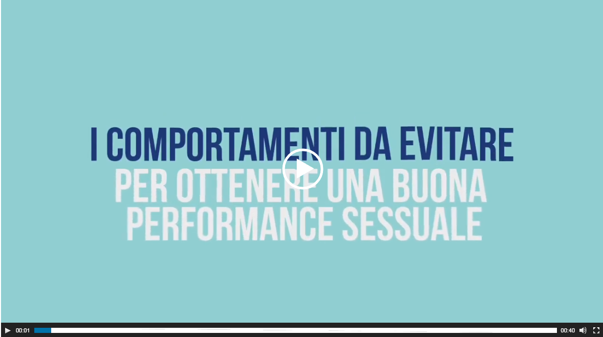 video comportamenti per ottenere una buona performance sessuale