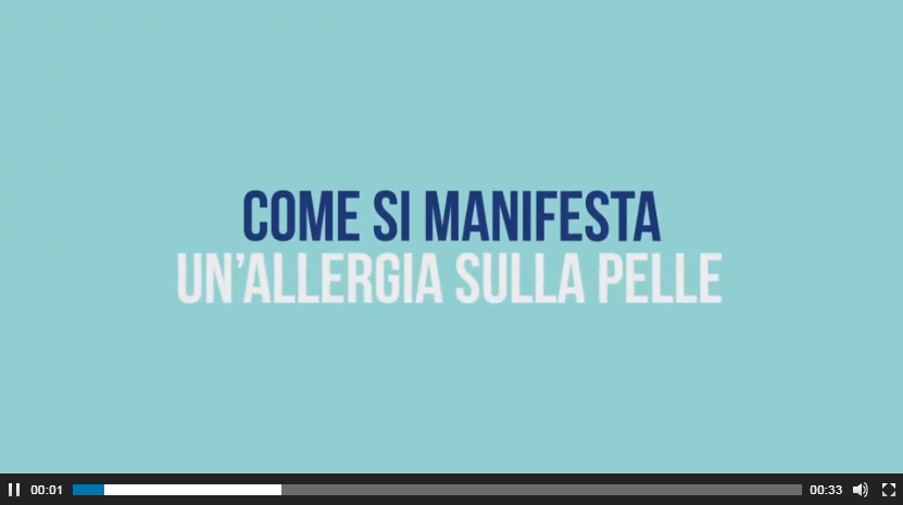 video come si manifesta un'allergia sulla pelle